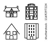 set of 4 vector icons such as... | Shutterstock .eps vector #1169297224