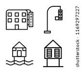 set of 4 vector icons such as... | Shutterstock .eps vector #1169297227