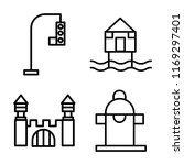 set of 4 vector icons such as... | Shutterstock .eps vector #1169297401