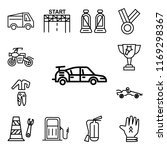 set of 13 linear editable icons ... | Shutterstock .eps vector #1169298367
