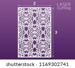 laser cut ornamental panel with ... | Shutterstock .eps vector #1169302741