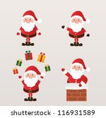 set of santa claus. vector... | Shutterstock .eps vector #116931589