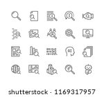 simple set of search related... | Shutterstock .eps vector #1169317957