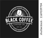 Black Coffee Vintage Logo Design
