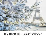 christmas tree covered with... | Shutterstock . vector #1169340097