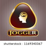 shiny badge with head with... | Shutterstock .eps vector #1169340367