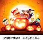 halloween celebration fun party.... | Shutterstock .eps vector #1169344561