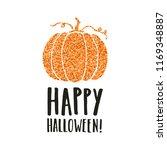 happy halloween. pumpkin...   Shutterstock .eps vector #1169348887