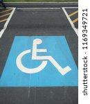 handicapped parking spot sign   Shutterstock . vector #1169349721