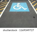 handicapped parking spot sign   Shutterstock . vector #1169349727