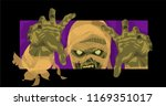 mummy halloween mummy monster... | Shutterstock .eps vector #1169351017