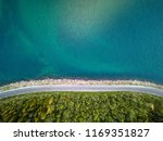 aerial view of an empty road in ... | Shutterstock . vector #1169351827