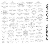 vector set   calligraphic... | Shutterstock .eps vector #1169362207