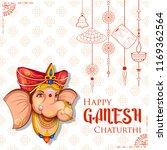 illustration of lord ganpati... | Shutterstock .eps vector #1169362564