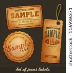 vector detailed jeans tags | Shutterstock .eps vector #116936371