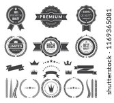 design template of premium... | Shutterstock . vector #1169365081