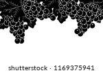 black and white grapevines | Shutterstock .eps vector #1169375941