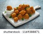 homemade breaded garlic... | Shutterstock . vector #1169388871