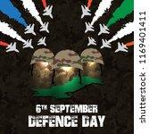 6th september. happy defence... | Shutterstock .eps vector #1169401411