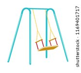 swing for children's playground | Shutterstock .eps vector #1169401717
