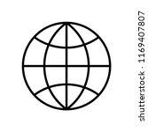 worldwide line icon isolated on ... | Shutterstock .eps vector #1169407807