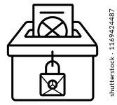 vector ballot box icon. voting  ... | Shutterstock .eps vector #1169424487