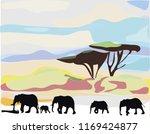 african landscape in hot day...   Shutterstock .eps vector #1169424877