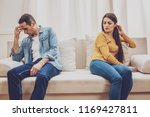 domestic problem. sad male... | Shutterstock . vector #1169427811