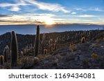 sunrise views of the salar de...   Shutterstock . vector #1169434081