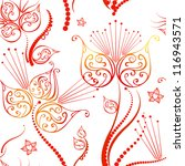 holidays red seamless floral... | Shutterstock .eps vector #116943571