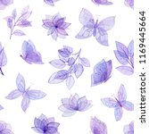 seamless pattern of watercolor... | Shutterstock . vector #1169445664