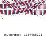 costa rica flags garland white... | Shutterstock .eps vector #1169465221