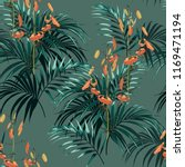 tropical background with jungle ... | Shutterstock .eps vector #1169471194