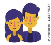 couple avatar characters icons | Shutterstock .eps vector #1169475154