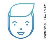 young man head avatar character | Shutterstock .eps vector #1169478124