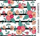 beautiful floral seamless... | Shutterstock .eps vector #1169480071