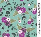beautiful floral seamless... | Shutterstock .eps vector #1169480074