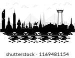silhouette to thailand  bangkok ... | Shutterstock .eps vector #1169481154
