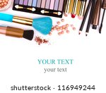 makeup brush and cosmetics  on... | Shutterstock . vector #116949244