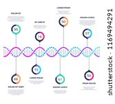 abstract dna molecule business... | Shutterstock . vector #1169494291