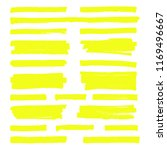 hand drawn yellow highlight... | Shutterstock . vector #1169496667