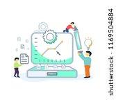 flat outline style vector... | Shutterstock .eps vector #1169504884