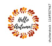 colorful autumn wreath. vector... | Shutterstock .eps vector #1169507467
