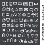 70 pixel web icons collection