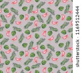 watercolor pattern of palm... | Shutterstock . vector #1169512444