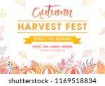 autumn harvest festival poster... | Shutterstock .eps vector #1169518834