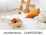 home decor. cozy fall bedroom... | Shutterstock . vector #1169520184