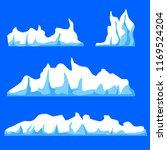 vector illustration iceberg | Shutterstock .eps vector #1169524204