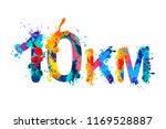 10 km. medium running distance. ... | Shutterstock .eps vector #1169528887