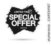 special offer  sale banner... | Shutterstock .eps vector #1169534587